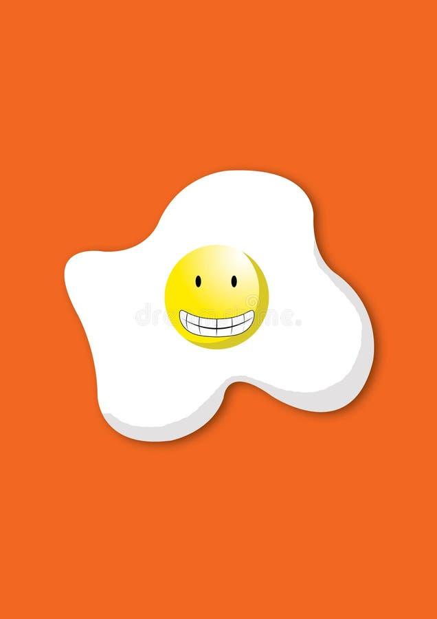 leuke vector van het glimlachen van eieren stock illustratie