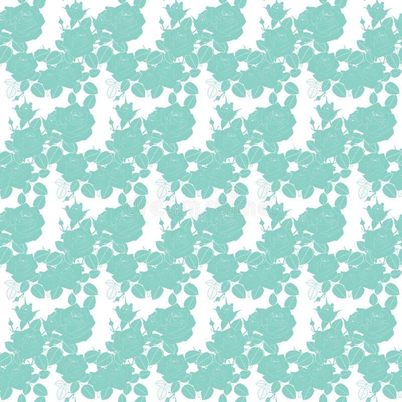Leuke vectorachtergrond Grafisch modern patroon Naadloos patroon met roze bloemen en bladeren Naadloze abstracte bloemen royalty-vrije illustratie