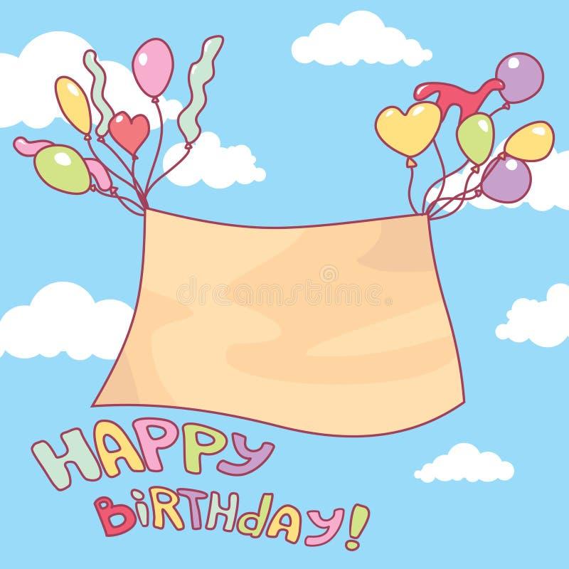 Leuke verjaardagskaart vector illustratie