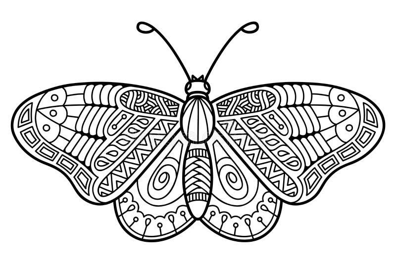 Leuke vlinder vector illustratie