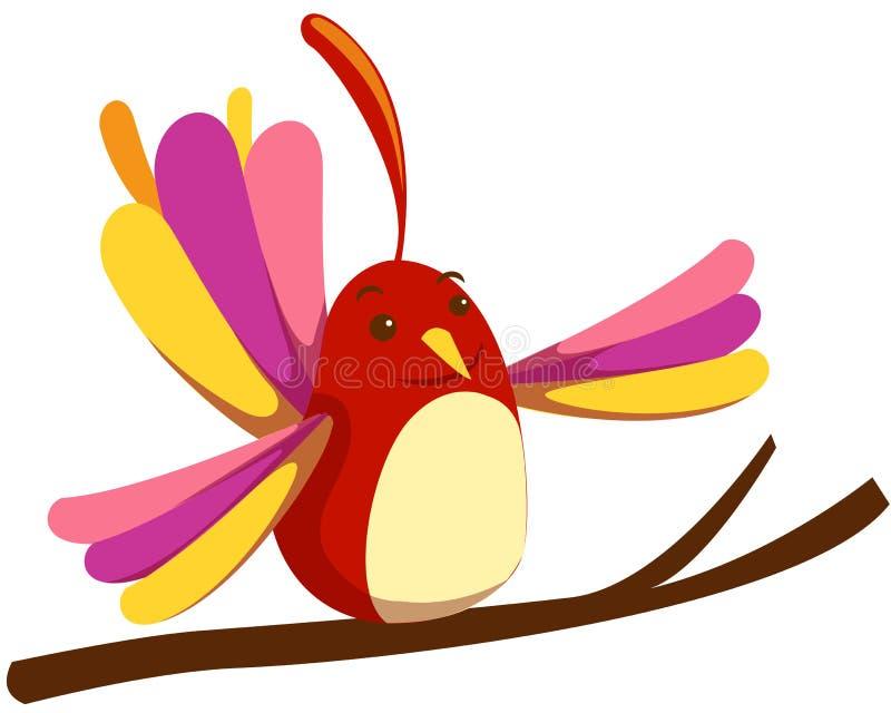 Leuke vogel royalty-vrije illustratie