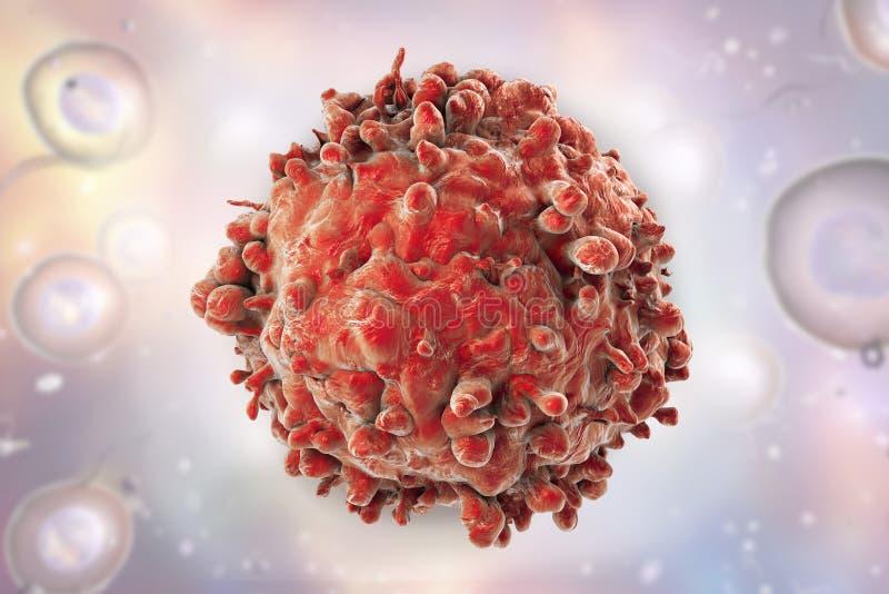 Leukemieleucocyt stock foto's