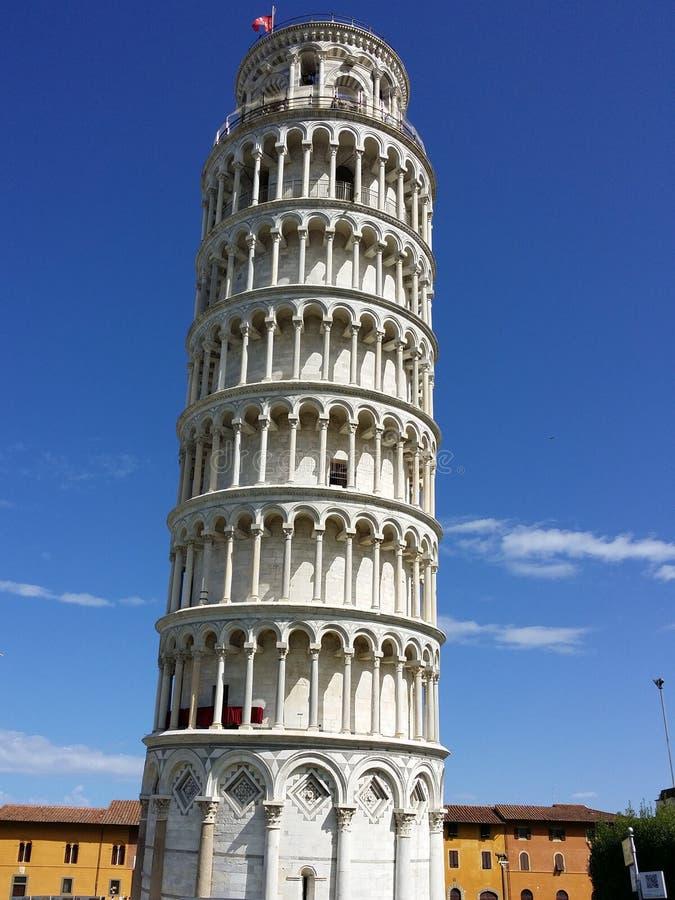 Leunende toren in Piazza dei Miracoli royalty-vrije stock foto