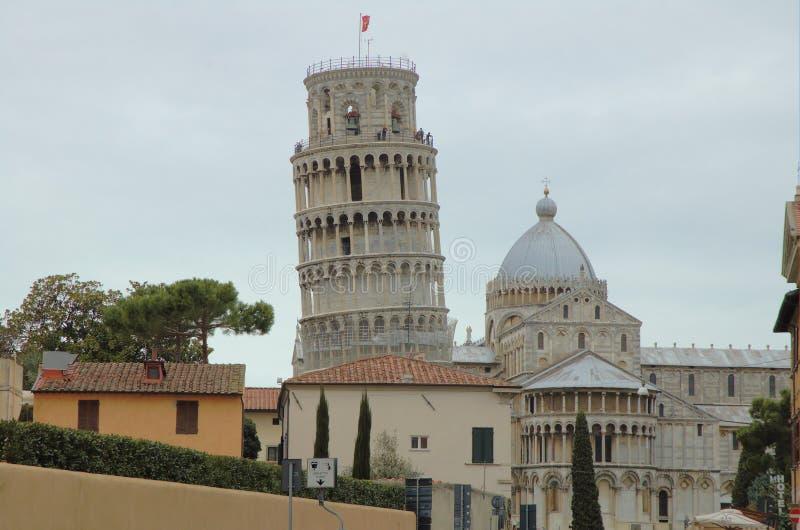Leunende Toren van Pisa 4 royalty-vrije stock foto's