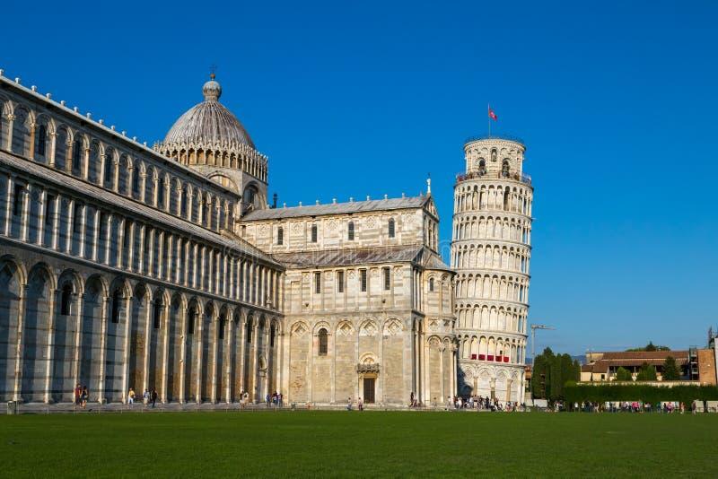 Leunende toren van Pisa royalty-vrije stock foto