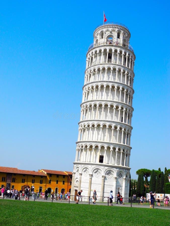 Leunende toren van Pisa royalty-vrije stock afbeeldingen