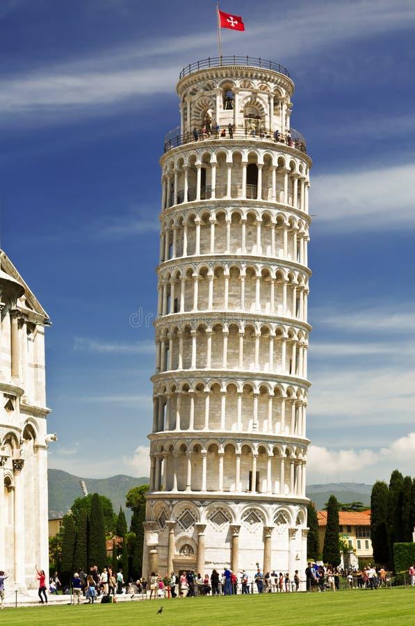 Leunende Toren van Pisa in Toscanië royalty-vrije stock fotografie