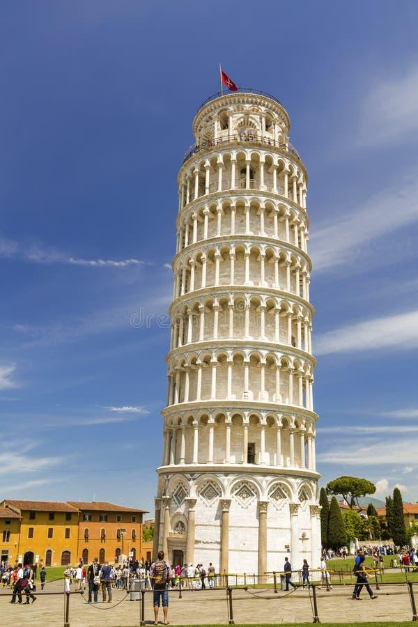 Leunende Toren van Pisa in Toscanië royalty-vrije stock foto's