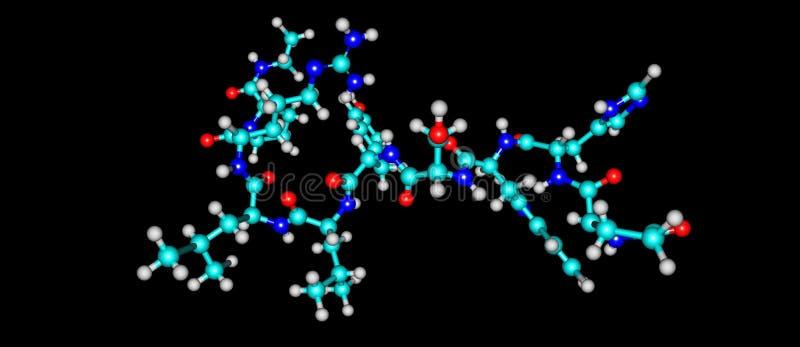 Leuprorelin molekylär struktur som isoleras på svart stock illustrationer
