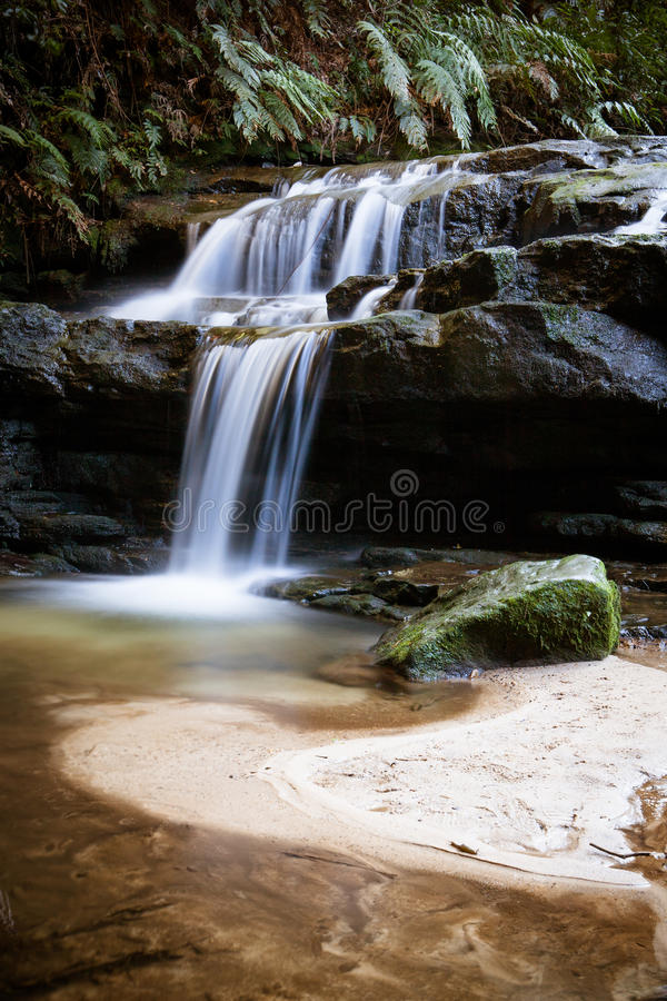 Download Leura Cascades stock image. Image of creek, fluid, river - 32059431