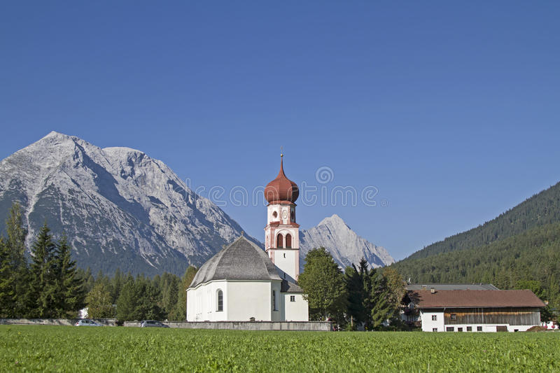Leutasch i Tyrol royaltyfri foto