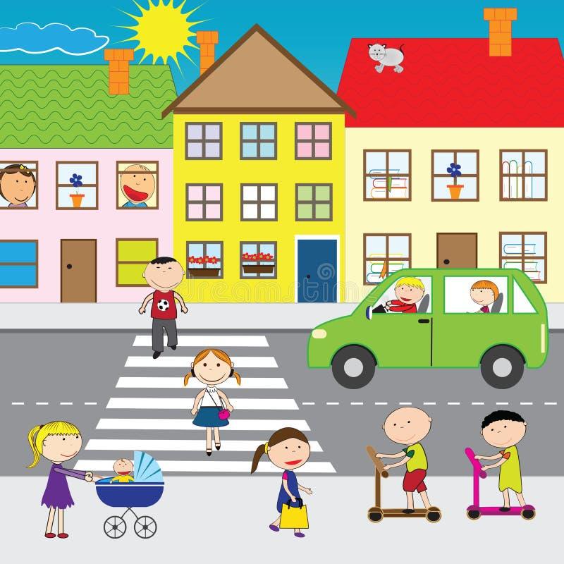 Leute auf der Straße vektor abbildung