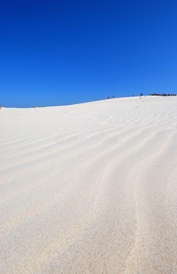 Leute auf der Wüste stockbild