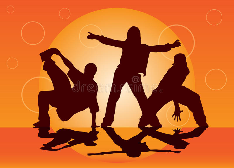 Leute auf einem Tanzen-Fußboden stock abbildung