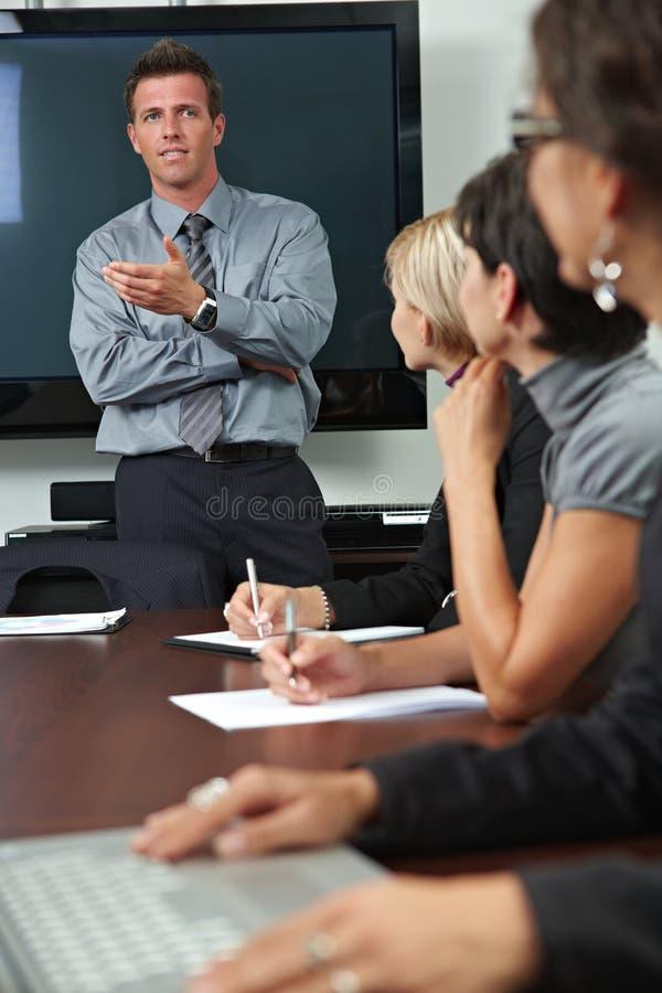 Leute auf Geschäftstraining lizenzfreies stockfoto