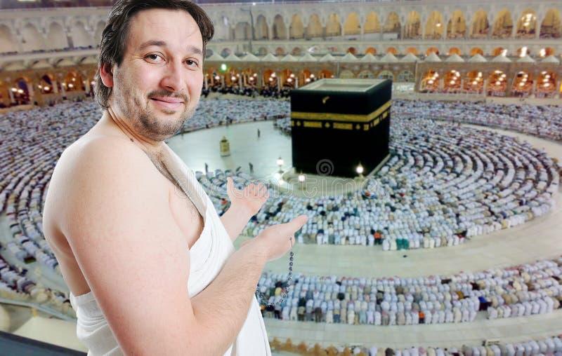 Leute auf heiliger islamischer Aufgabe in Makka lizenzfreie stockfotos