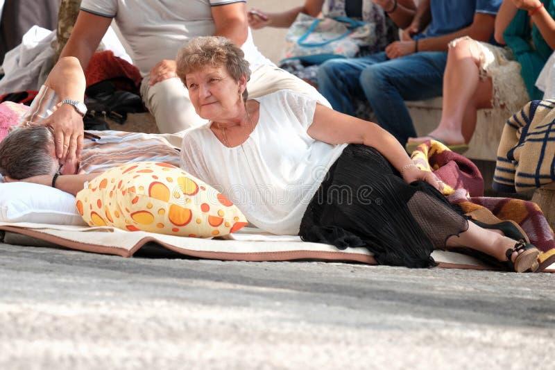Leute-Balkan-Lebensstil, Montenegro stockfotos