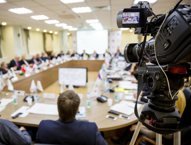 Leute bei der Konferenz lizenzfreie stockfotos