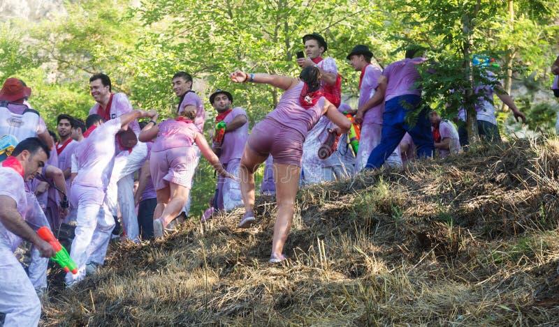 Leute bei Haro Wine Festival stockbilder