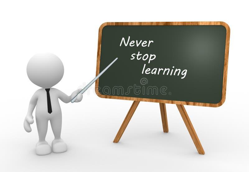 Stoppen Sie nie zu lernen stock abbildung