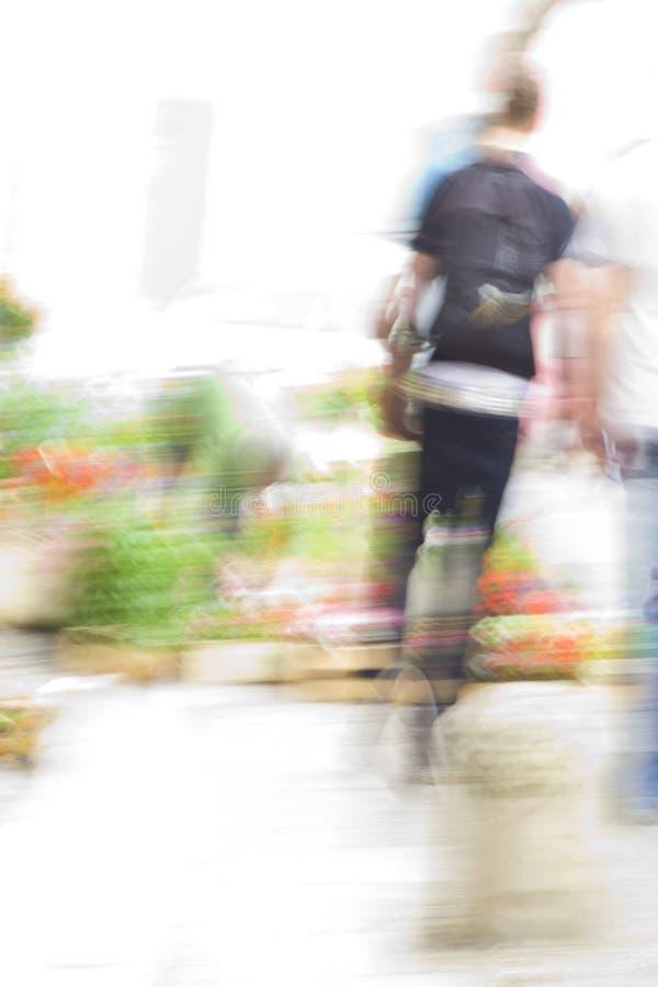 Leute in den Bewegungs-Serien stockfoto