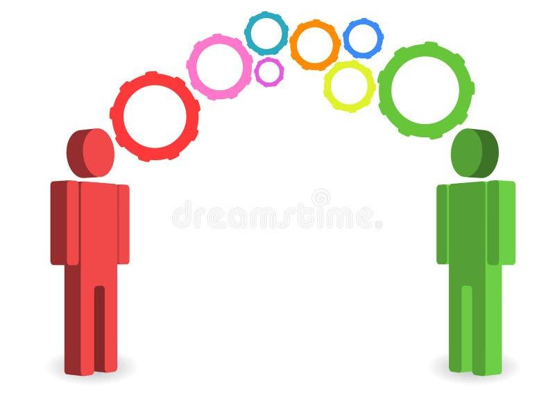 Leute, die Ideen austauschen vektor abbildung