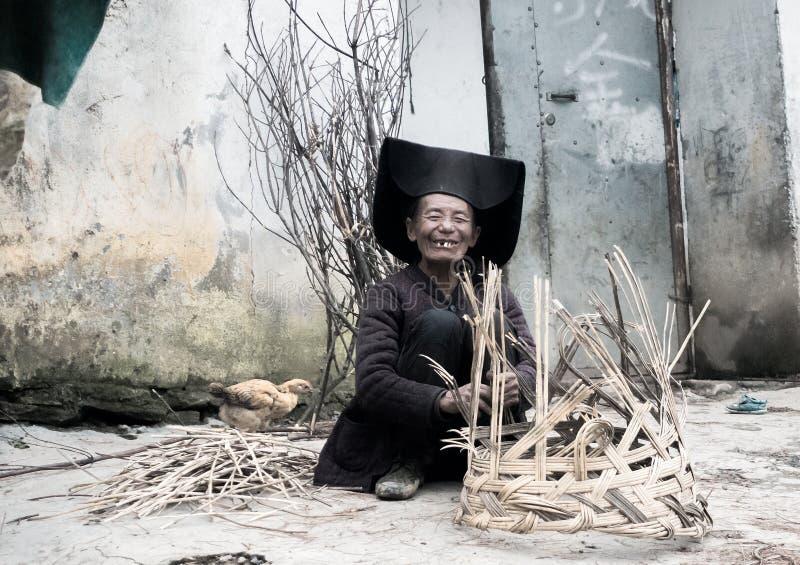 Leute, die im Großen Liangshan von China wohnen stockfotografie
