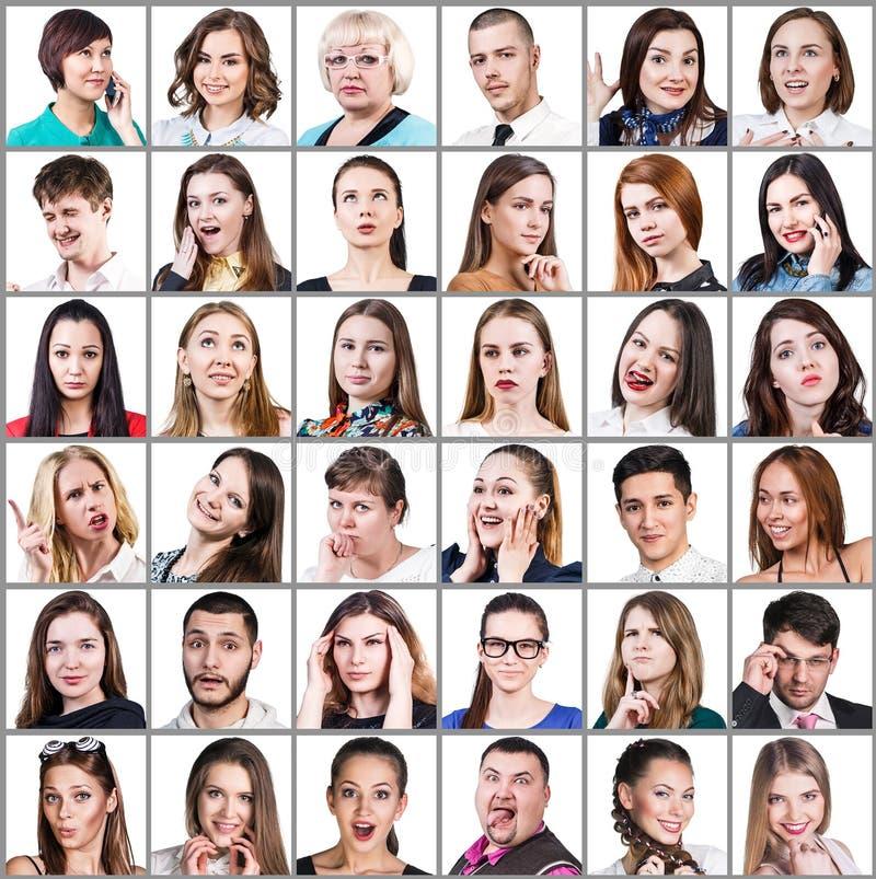 Leute, die verschiedene Gefühle ausdrücken stockfoto