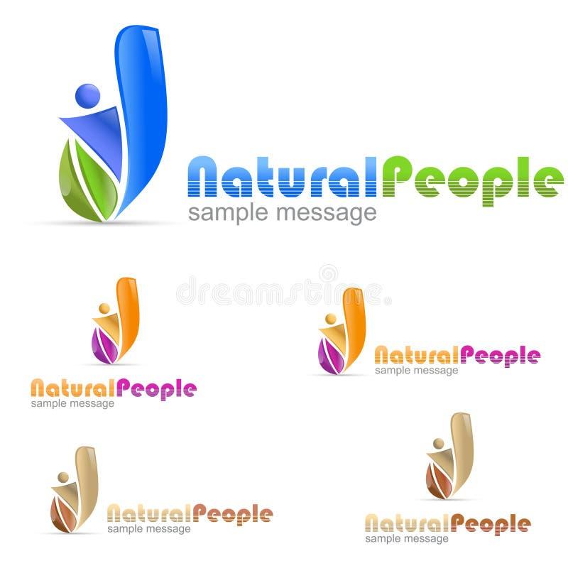 Leute Eco-Logo lizenzfreie abbildung