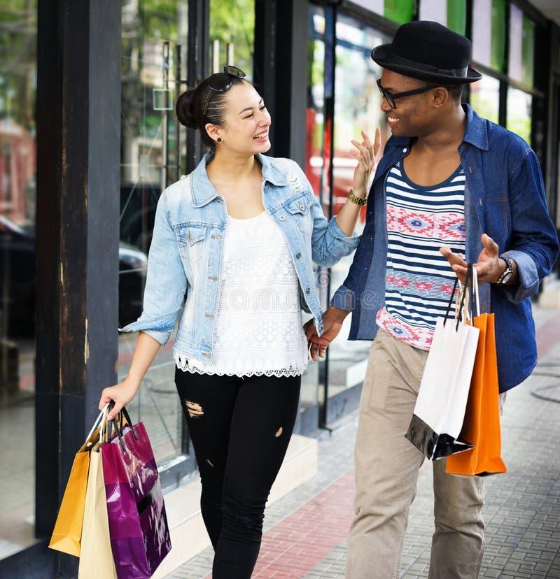 Leute-Einkaufsausgaben-Kunden-Verbraucherschutzbewegungs-Konzept stockfotografie
