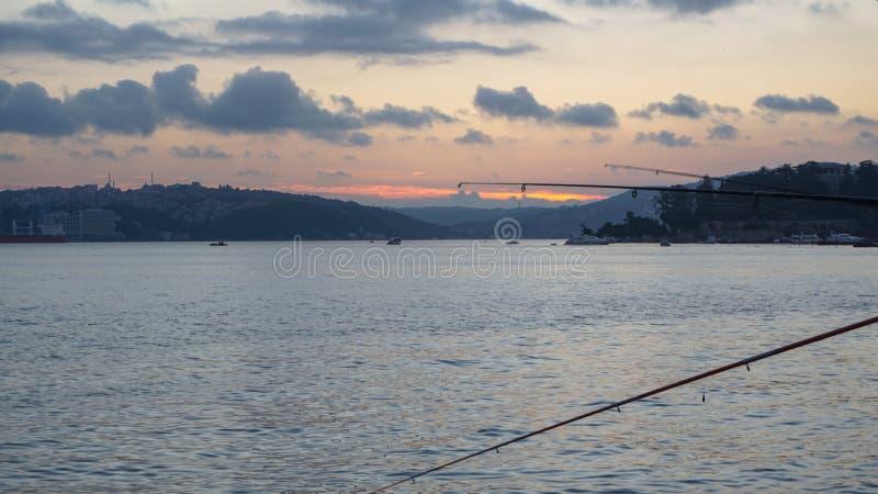Leute fischen stockfotografie