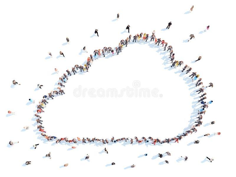Leute in Form von Wolken lizenzfreie abbildung
