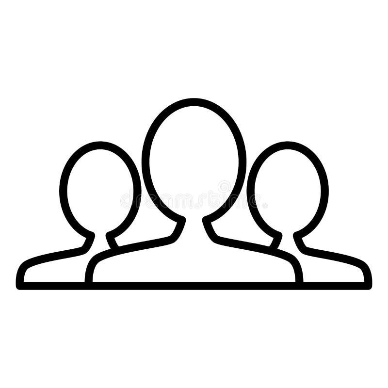 Leute, Gruppe, Teamlinie Ikone Entwurfsvektorzeichen lizenzfreie abbildung