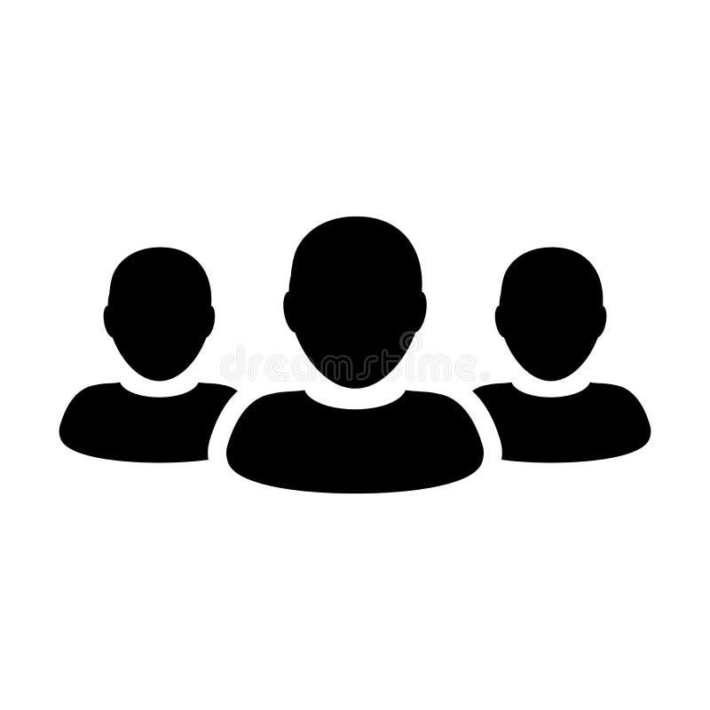 Leute-Ikonen-Schaltgruppe für männliches Geschäft Team Management Persons Avatar vektor abbildung