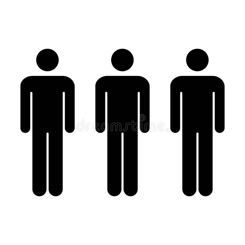 Leute-Ikonen-Schaltgruppe von Mann-Team Symbol Pictogram-Illustration stock abbildung