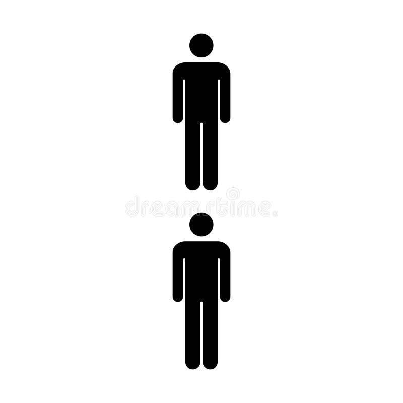 Leute-Ikonen-Schaltgruppe von Mann-Team Symbol Pictogram-Illustration vektor abbildung