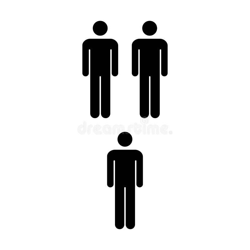 Leute-Ikonen-Schaltgruppe von Mann-Team Symbol Pictogram-Illustration lizenzfreie abbildung