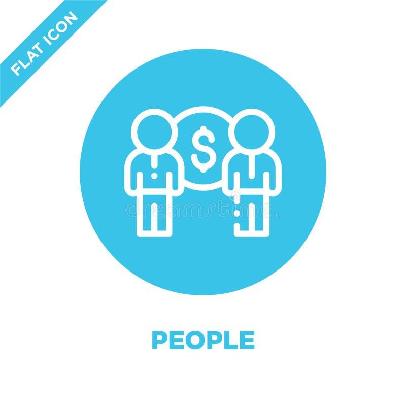 Leute-Ikonen-Vektor Dünne Linie Leuteentwurfsikonen-Vektorillustration Leutesymbol für Gebrauch auf Netz und mobilen Apps, Logo,  vektor abbildung