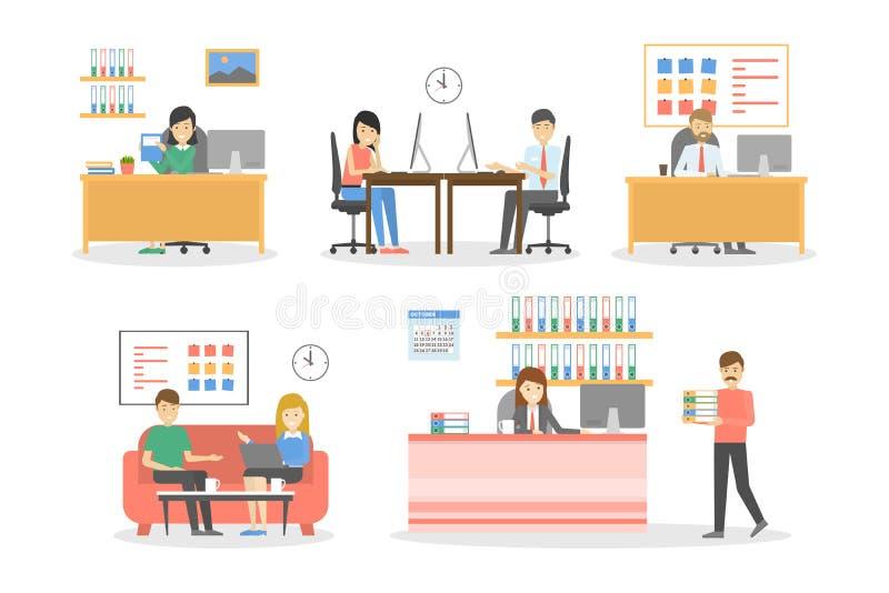 Leute im Büro lizenzfreie abbildung
