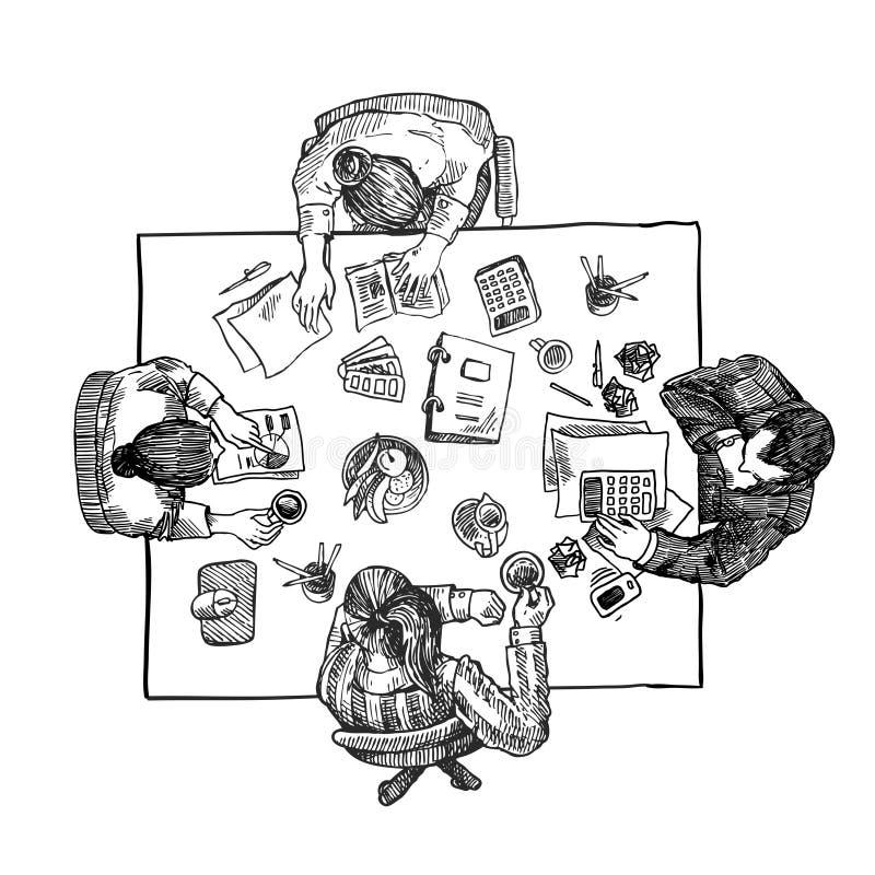 Leute im Büro vektor abbildung