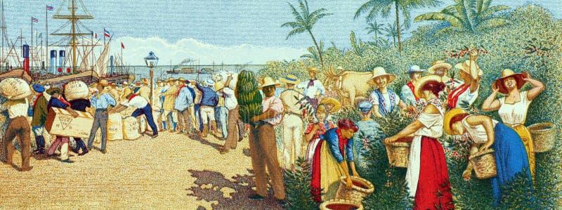 Leute im Hafen lizenzfreies stockbild