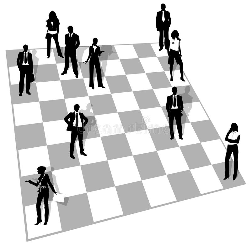 Leute im Schach vektor abbildung