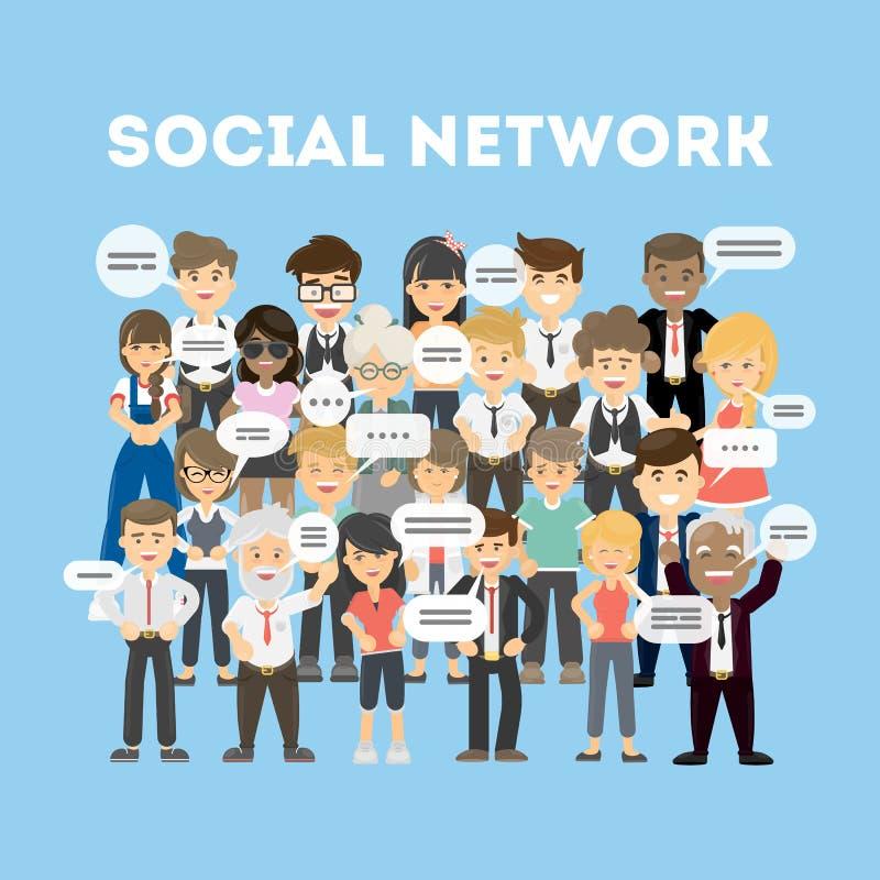 Download Leute im Sozialnetz vektor abbildung. Illustration von luftblase - 90228343
