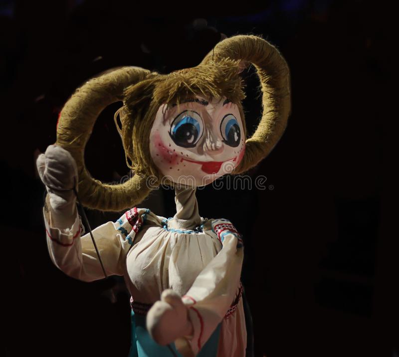 Leute-Marionette - Bild Ehrfürchtige Persönlichkeit lizenzfreies stockbild