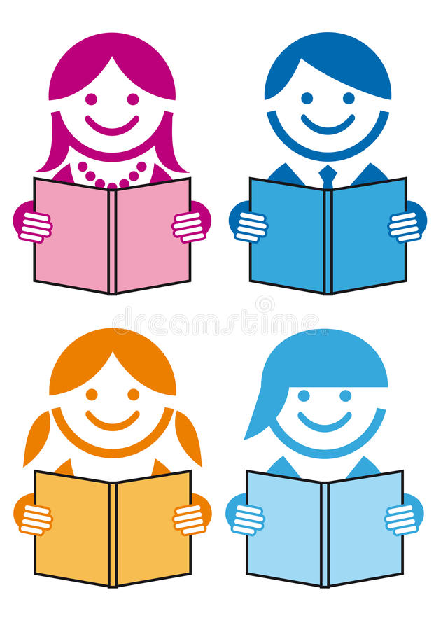 Leute mit Büchern,   lizenzfreie abbildung