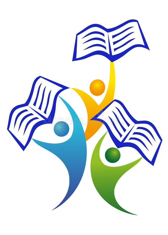 Leute mit Büchern lizenzfreie abbildung