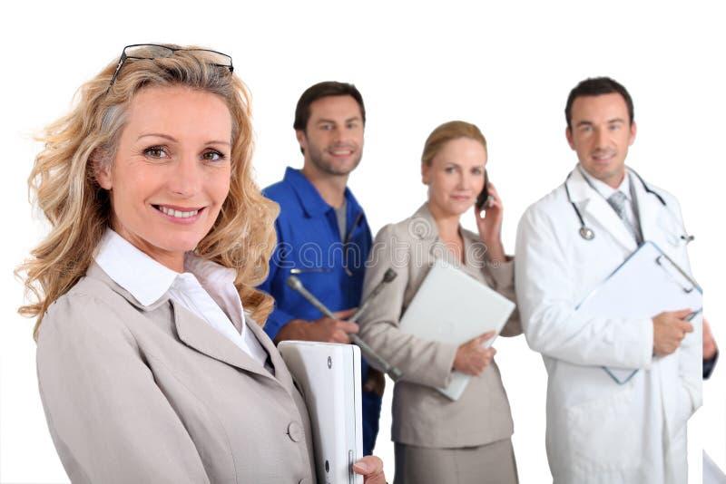 Leute mit befriedigenden Karrieren stockbild