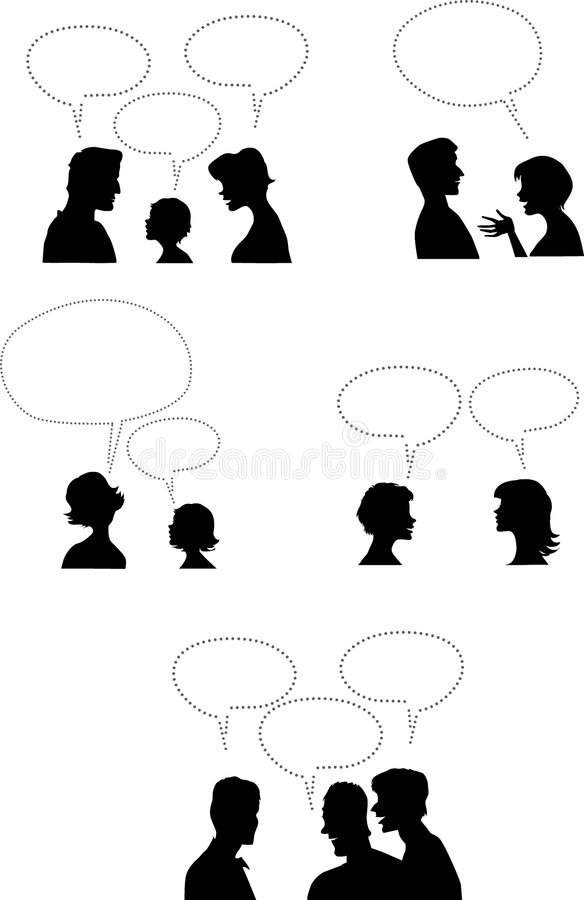 Leute mit Dialogballonen stock abbildung