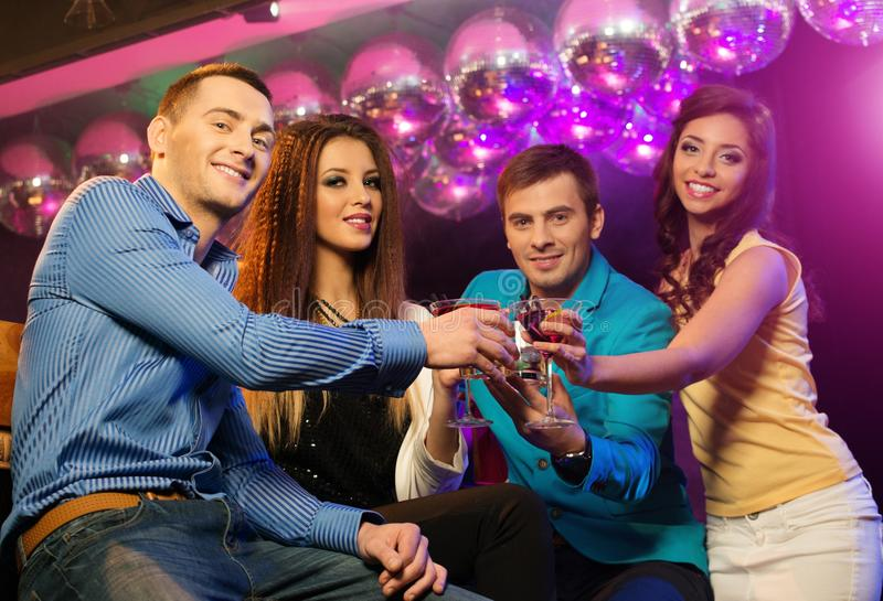 Leute am Nachtclub stockbilder