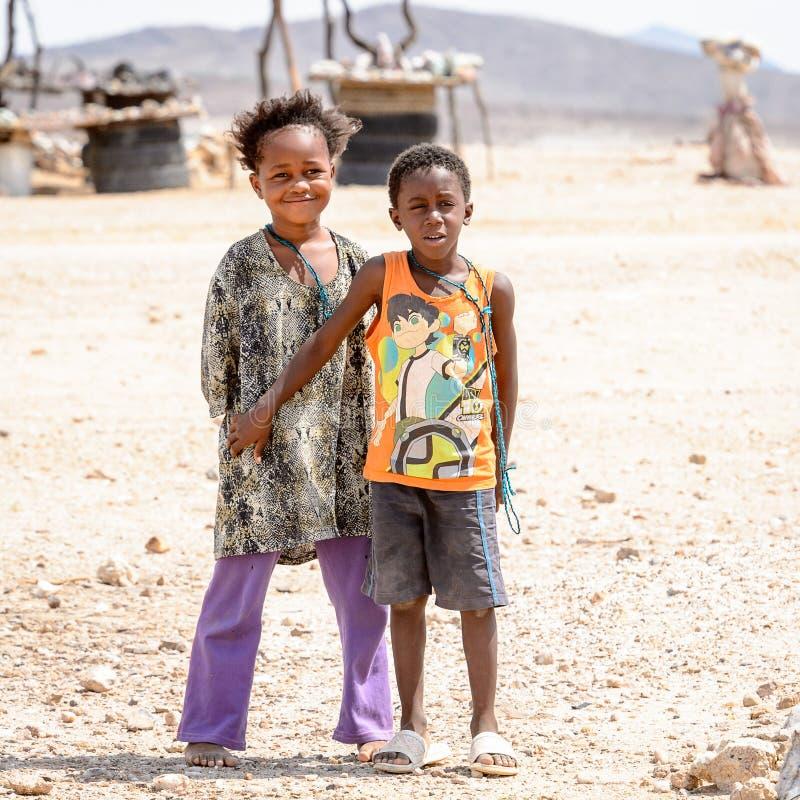Leute in Namibia lizenzfreies stockfoto